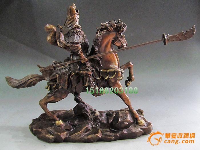 紫铜骑马关公像