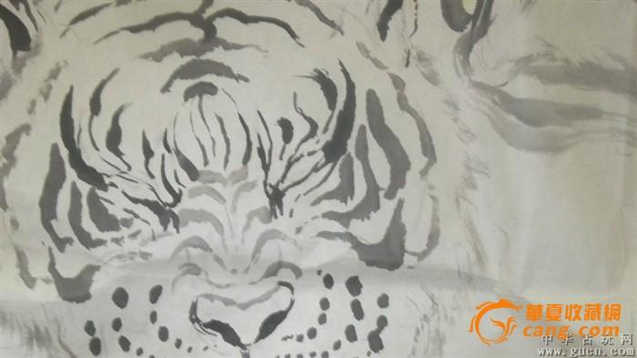 福建莆田已故画家林金卯2000画的五色虎,水平非常的高
