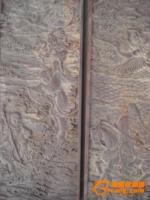 木雕八仙过海老挂屏一套