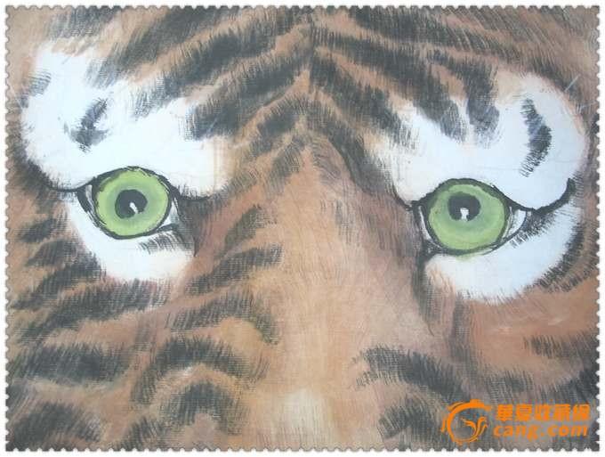 王者*大幅手绘水彩虎肖像画