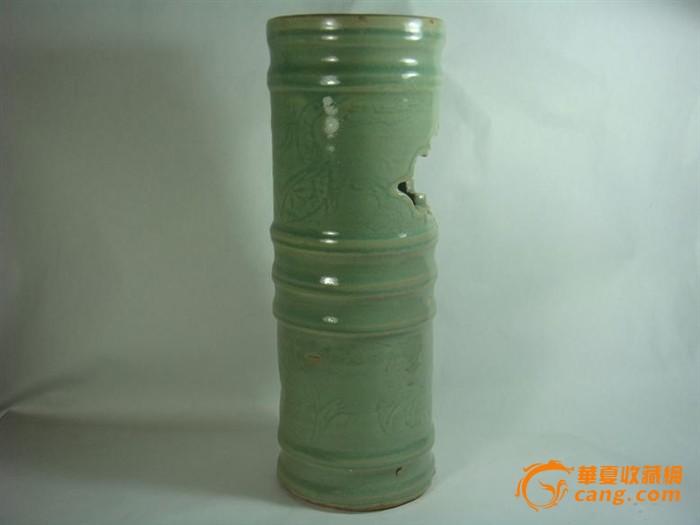 龙纹牡丹纹竹节直桶瓶-包