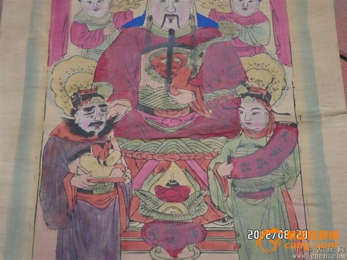建国前后手绘财神画14