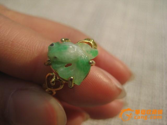 清代翡翠金鱼镶嵌戒指