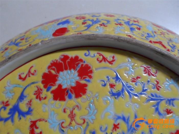 粉彩花纹盘子