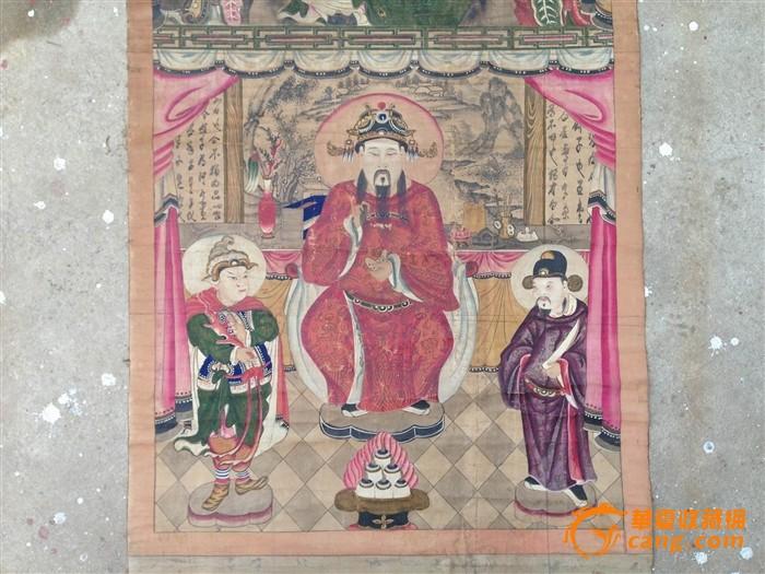 清代文武财神像