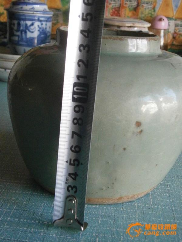民国豆青釉罐 图1