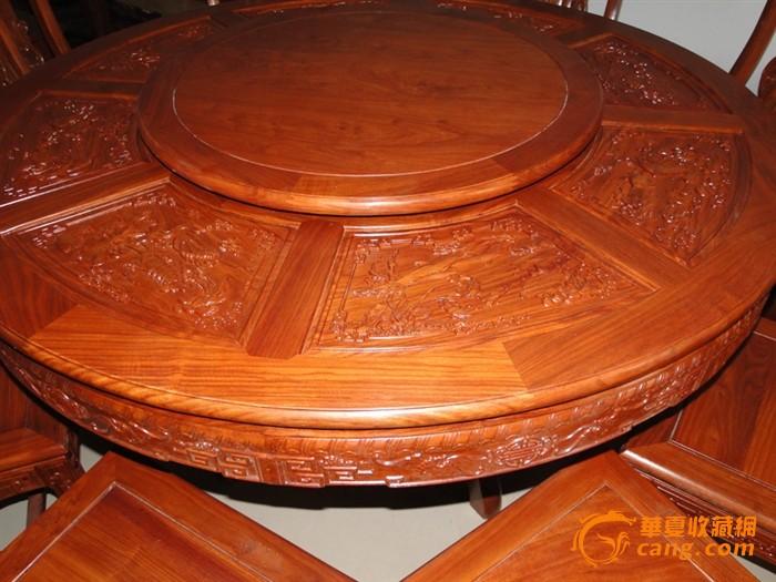 古典家具 转盘大圆桌一套 特价销售