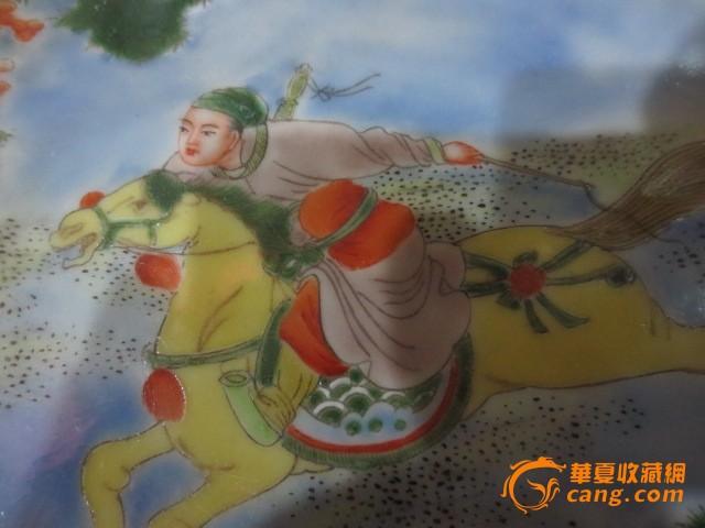 康熙五彩刀马人物盘