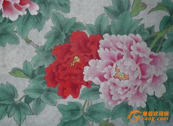 工笔画家翠霞花鸟作品(花好月圆)