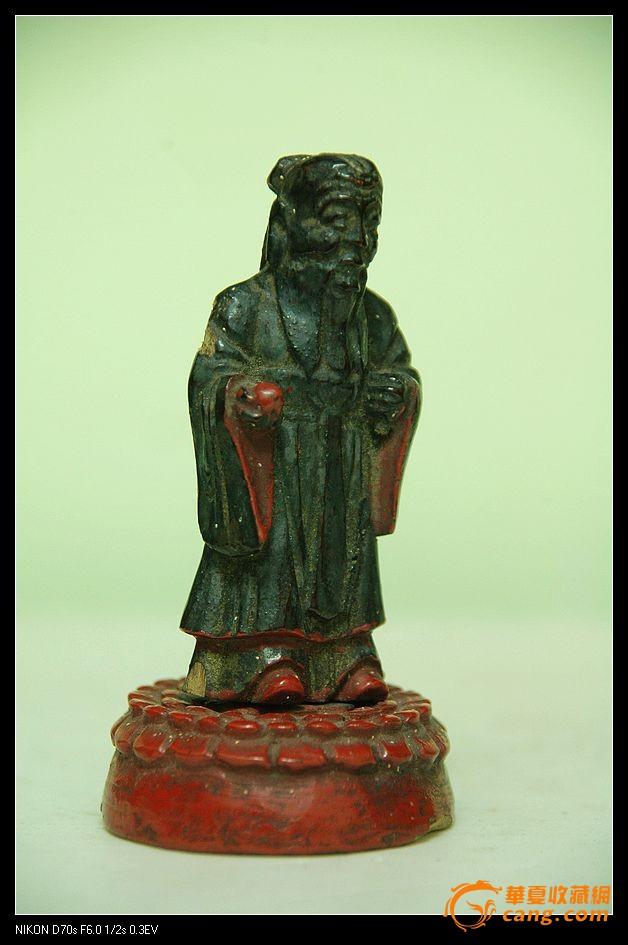 清代可爱的木雕小寿星