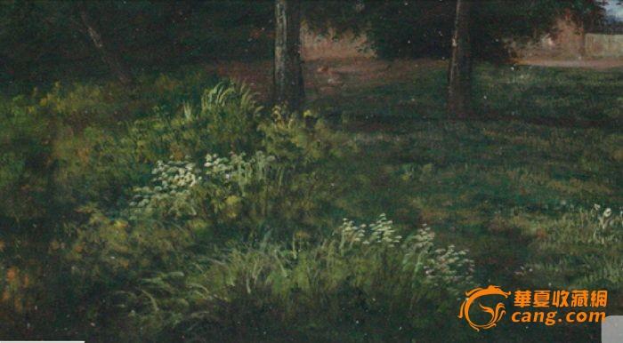 布面油画:庄园风景