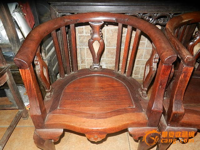 民国老红木酸枝禅椅一对