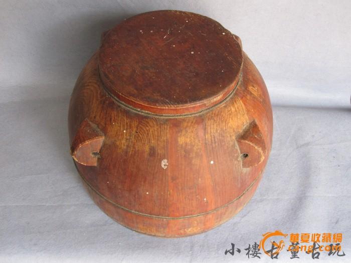 民俗收藏民国老酱油桶/老木桶
