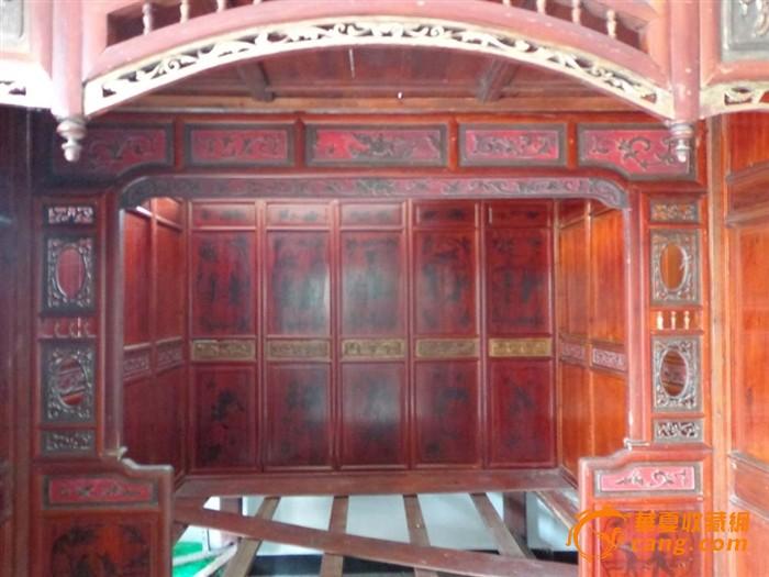 木雕古代木水桶图片