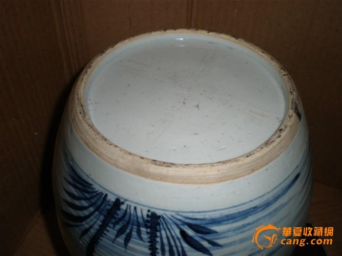 清康熙青花釉里红大罐