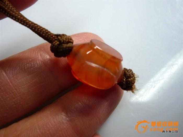 包真包老红玛瑙圆珠精美挂件饰品四面带工