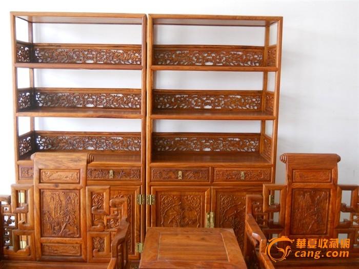花梨木老式书柜榫卯结构.实木仿古家具