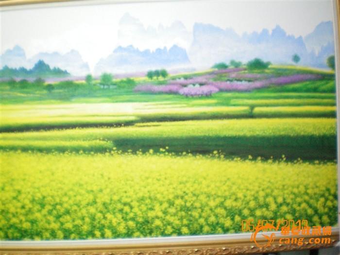 油画风景——油菜花