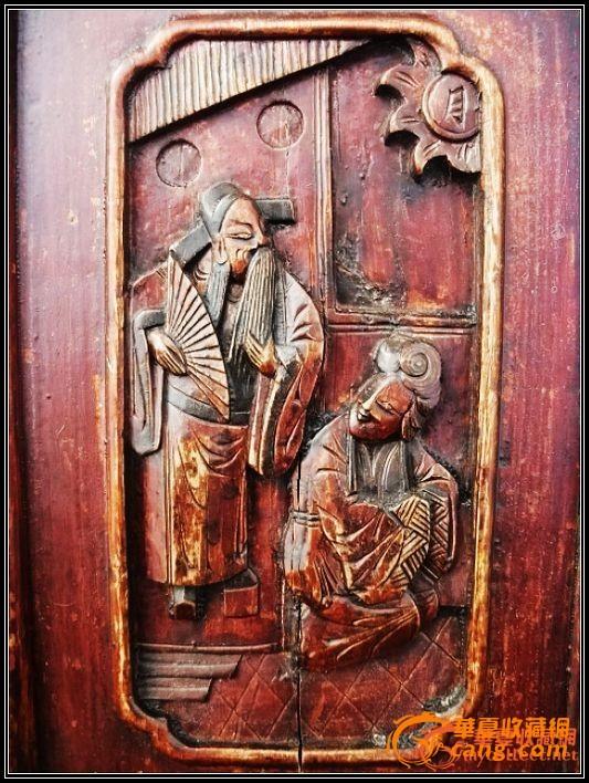。经典东阳工、太平有象。中国结。书房清雕椅一对。。。-图2