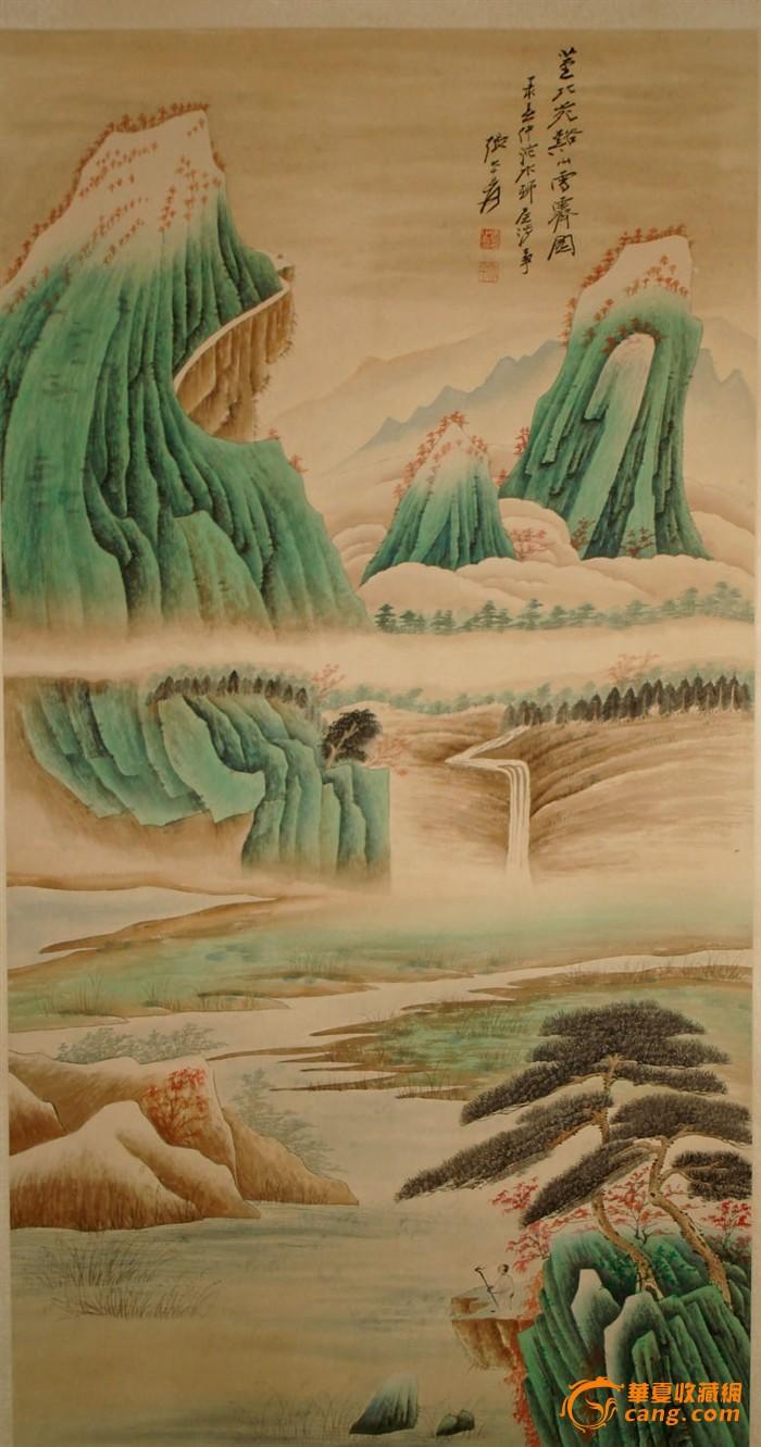 张大千的山水画_张大千的山水画价格_张大千的山水画图片