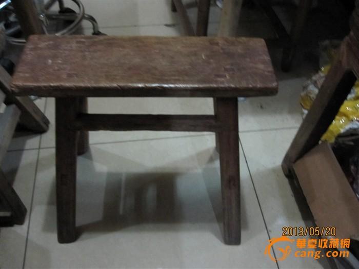 清代白木小凳子