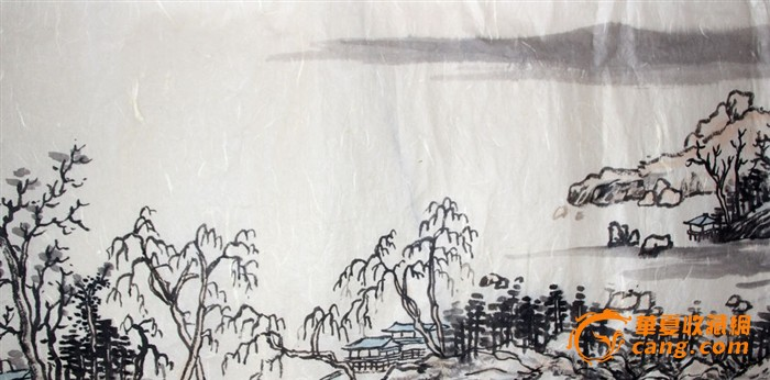 山东青年画家李海峰山水画长卷
