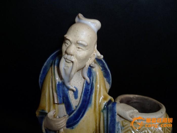 清代人物陶瓷雕件