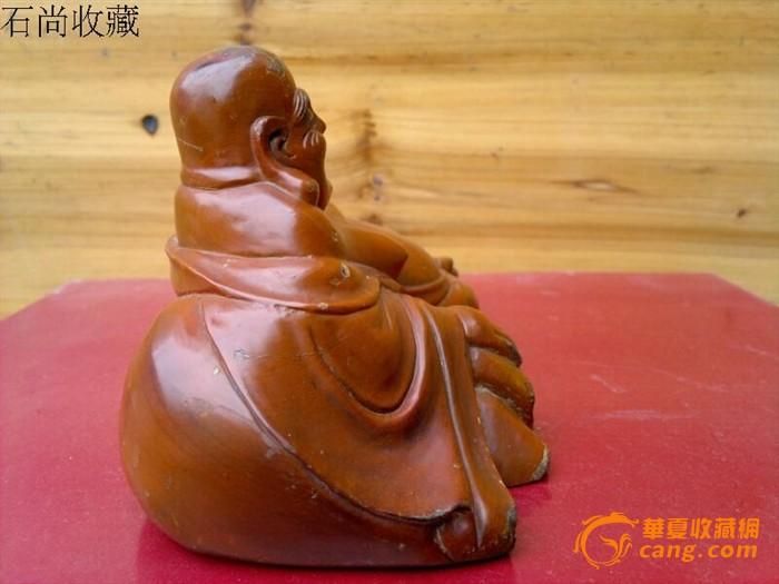 老木雕卧弥勒佛摆件 红豆杉
