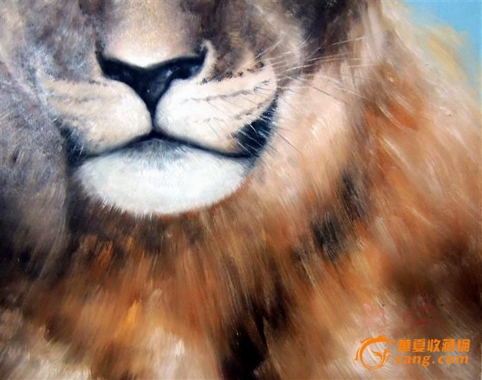 精美油画*狮子*