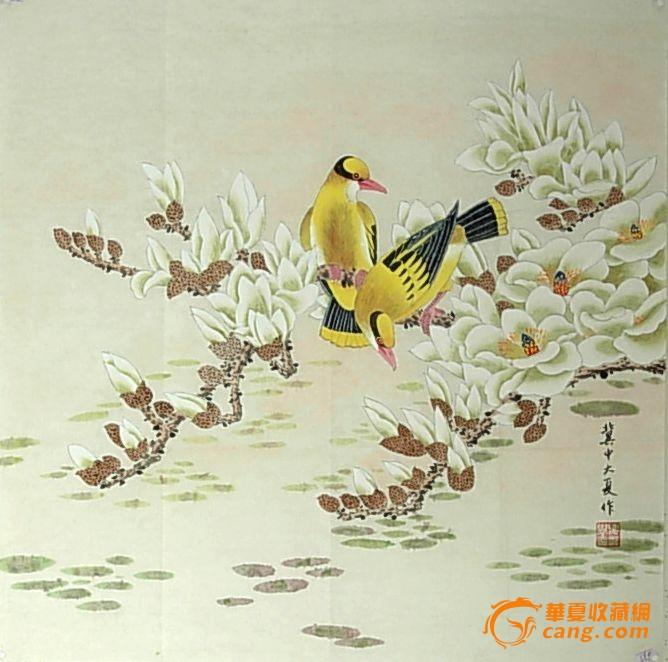 夏永学 工笔画鸟