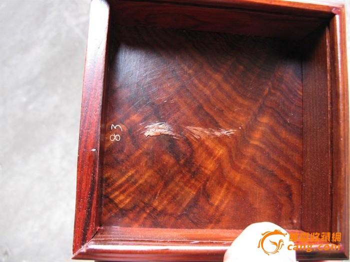红酸枝盒子,花纹好.榫卯结构(#12)