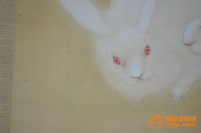 清代玉兔画