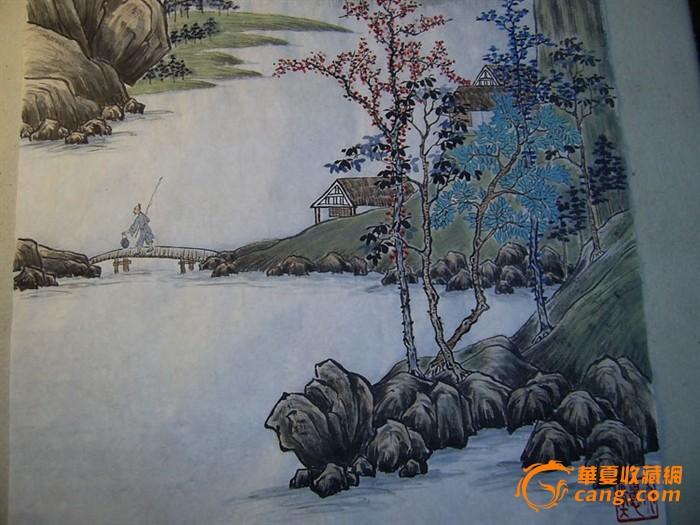 中国水墨山水画-山林隐居图!图片
