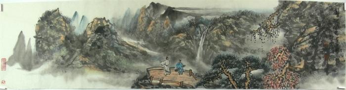 中央美院 吴山 四尺对开横幅 国画山水画