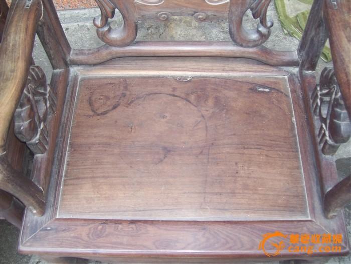 老家具酸枝民国太师椅工座一对江门老预算装修红木家具电器图片