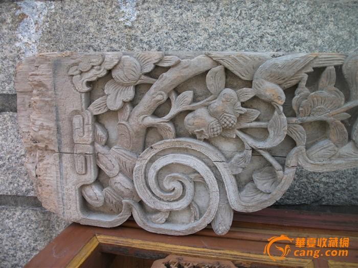 民国老房子动物木雕