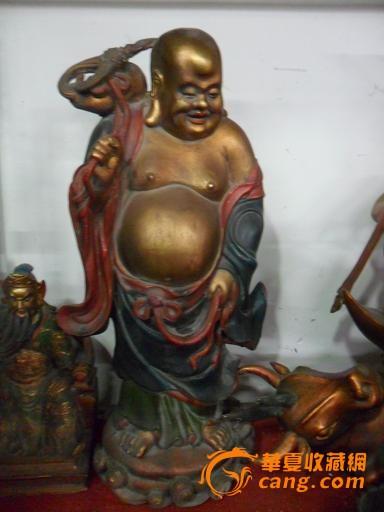 包老彩绘鎏金大肚弥勒佛