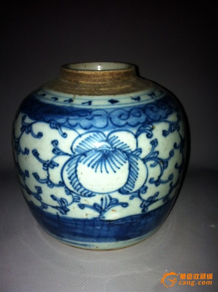 清代----青花茶叶罐图片