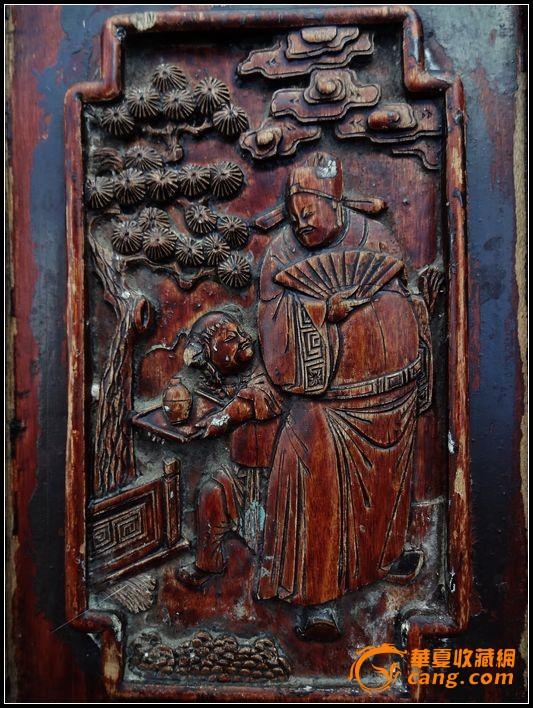 。。经典东阳工。历史典故。中国风。清雕椅一对、。-图2
