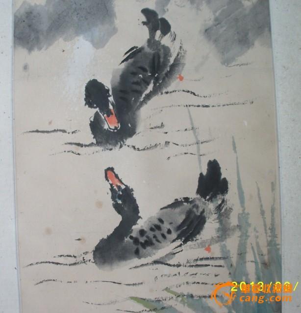 水墨画~鸭子~!图片