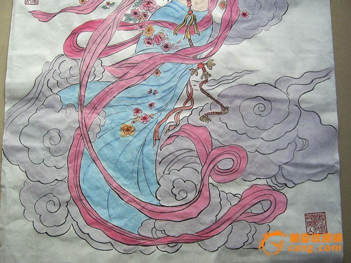 名家水墨人物画-反弹琵琶图!