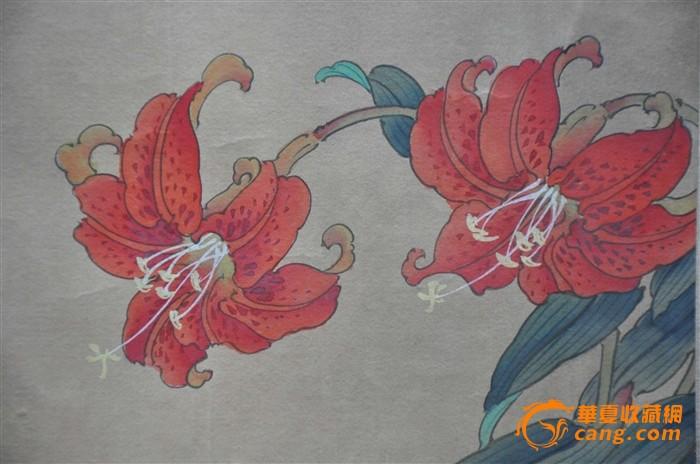 有一二十年的工笔花卉图片