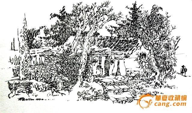 手绘钢笔画;; 烟台南山公园; 喜欢钢笔画的朋友来聚聚!