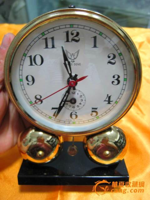 建国初手绘花卉茶壶《漂亮-全品》 钟表收藏-老式闹表 库存全新白鸽牌