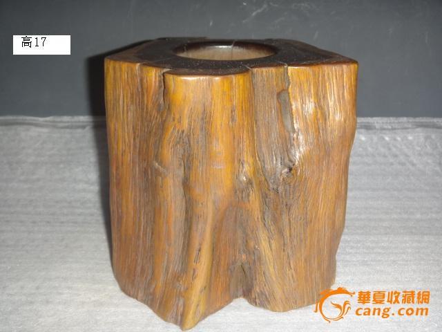 紫檀木树皮纹笔筒