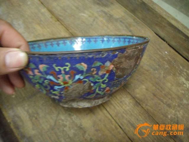 民国景泰蓝瓷碗