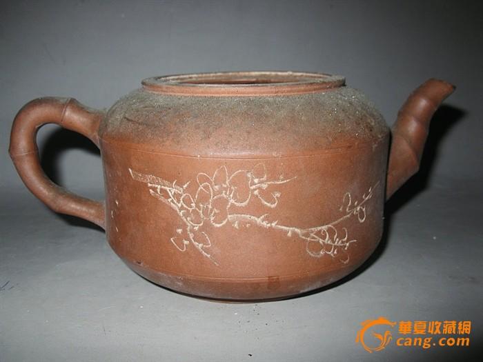 文革-紫砂-竹鼓壶身筒