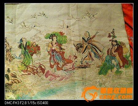织锦【八仙过海】织锦长117厘米