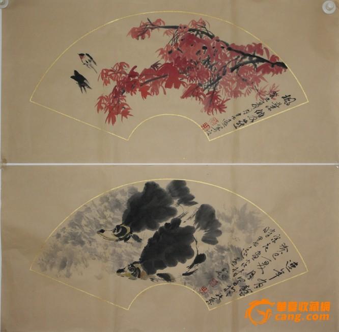 质地: 交易品介绍   处理精品扇面画两幅,作者自己查,保证纯手工绘制