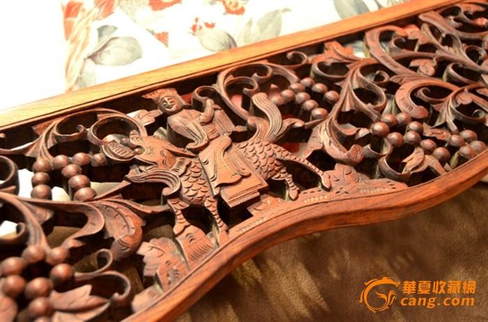 一件清代血榉麒麟送子配刀具图纸老木制作板_diy松鼠葡萄雕花图片